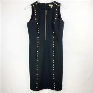 Michael Kors | Sleeveless Black dress gold zipper